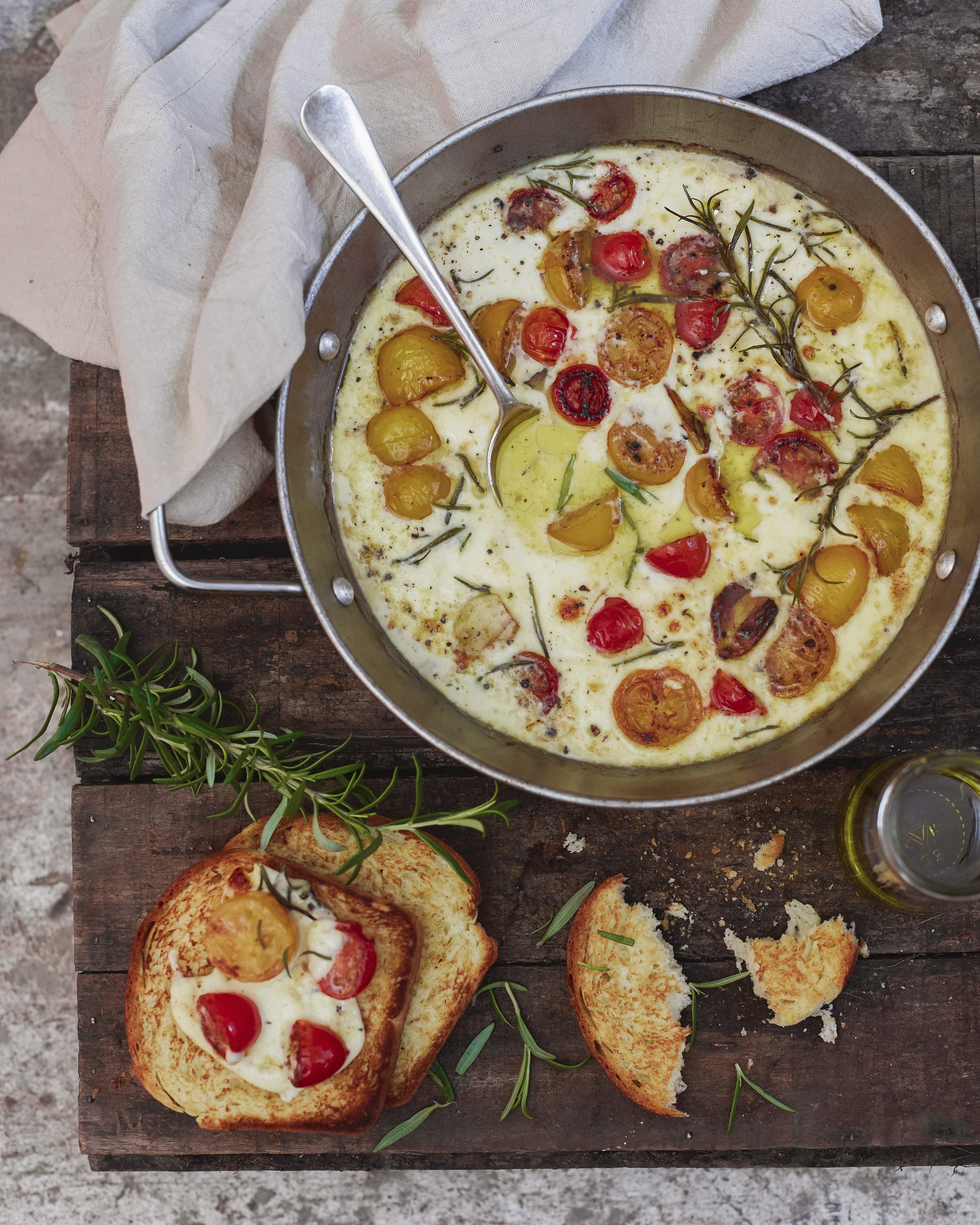 15-Gratin de queso y tomatines